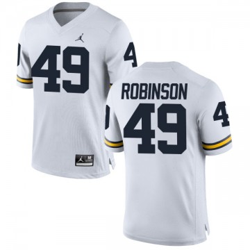 Men's Andrew Robinson Michigan Wolverines Authentic White Brand Jordan Football Jersey -