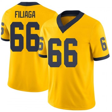 Men's Chuck Filiaga Michigan Wolverines Limited Brand Jordan Maize Football College Jersey