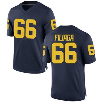 Men's Chuck Filiaga Michigan Wolverines Replica Navy Brand Jordan Football College Jersey