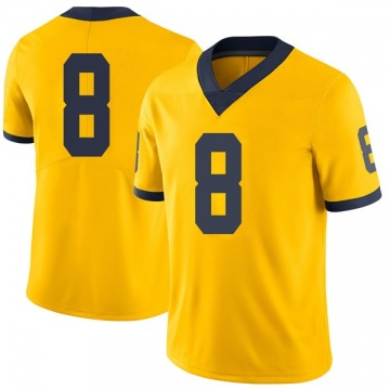 Men's Drew Singleton Michigan Wolverines Limited Brand Jordan Maize Football College Jersey
