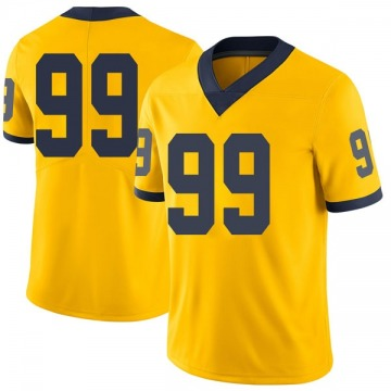 Men's John Luby Michigan Wolverines Limited Brand Jordan Maize Football College Jersey