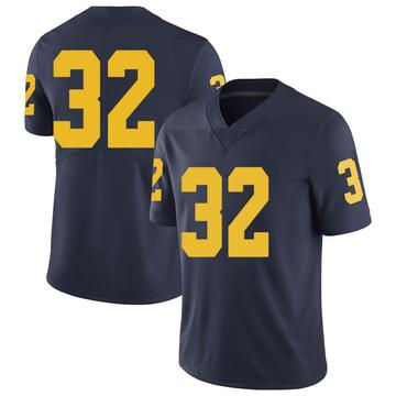 Men's Luke Wilson Michigan Wolverines Limited Navy Brand Jordan Football College Jersey