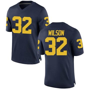 Men's Luke Wilson Michigan Wolverines Replica Navy Brand Jordan Football College Jersey