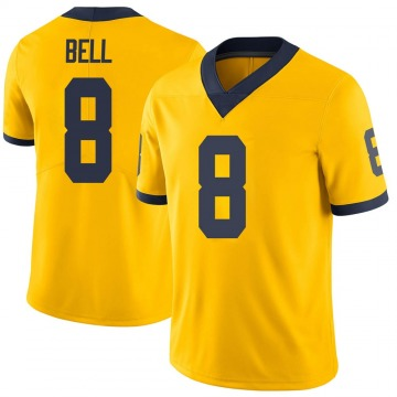 Men's Ronnie Bell Michigan Wolverines Limited Brand Jordan Maize Football College Jersey
