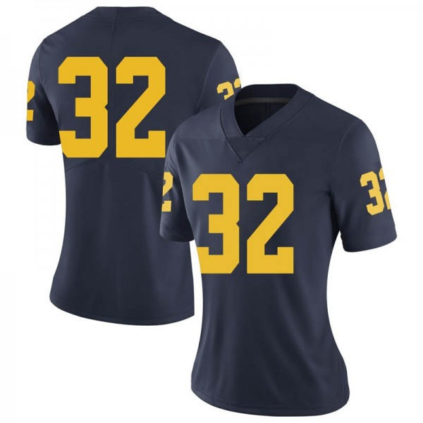 Women's Luke Wilson Michigan Wolverines Limited Navy Brand Jordan Football College Jersey
