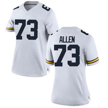 Women's Willie Allen Michigan Wolverines Game White Brand Jordan Football College Jersey