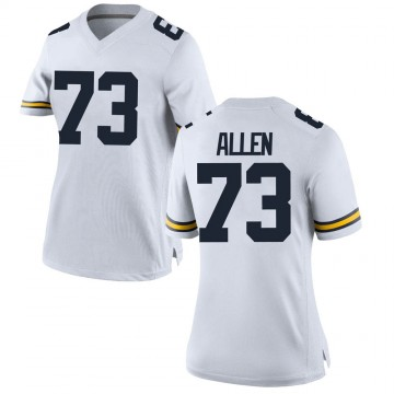 Women's Willie Allen Michigan Wolverines Replica White Brand Jordan Football College Jersey