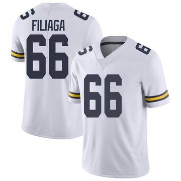 Youth Chuck Filiaga Michigan Wolverines Limited White Brand Jordan Football College Jersey