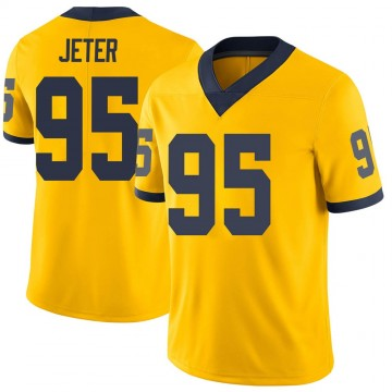 Youth Donovan Jeter Michigan Wolverines Limited Brand Jordan Maize Football College Jersey