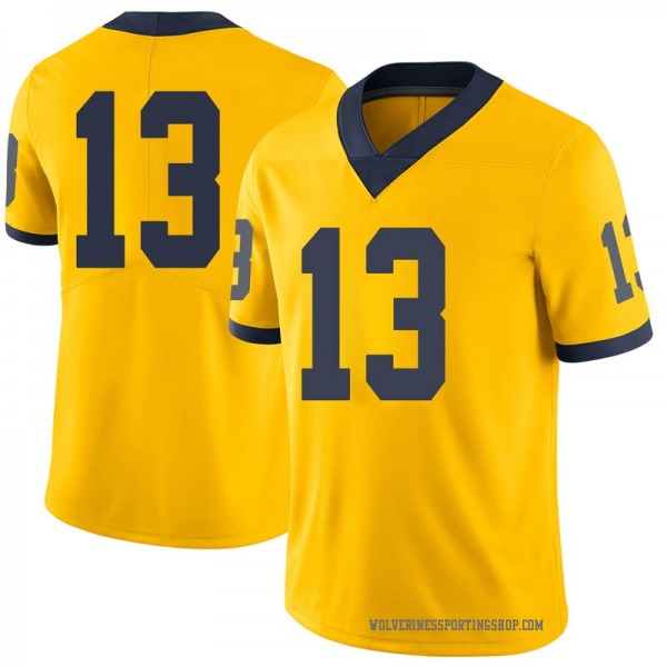 Youth German Green Michigan Wolverines Limited Green Brand Jordan Maize Football College Jersey