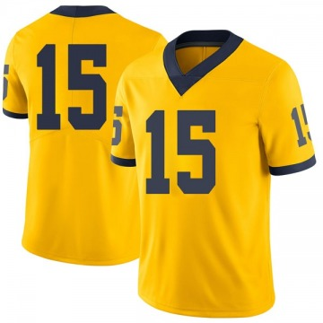 Youth Jon Teske Michigan Wolverines Limited Brand Jordan Maize Football College Jersey