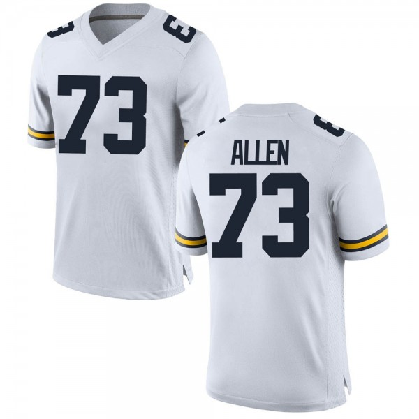 Youth Willie Allen Michigan Wolverines Replica White Brand Jordan Football College Jersey